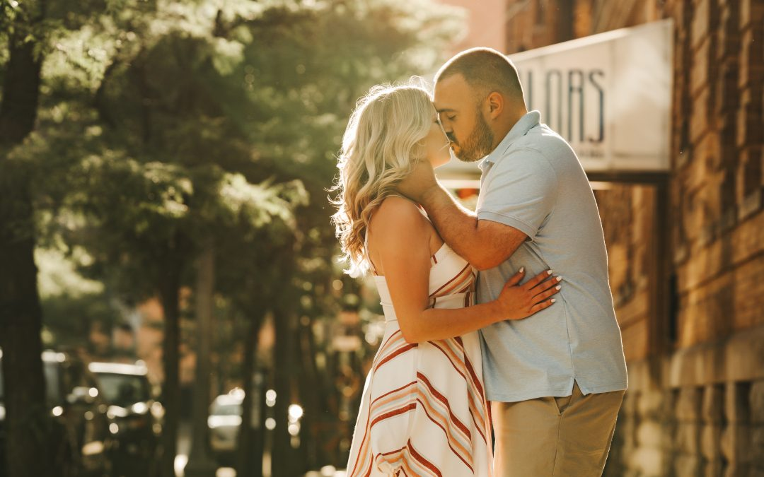 Liz & Jeff's Downtown Detroit Engagement Session