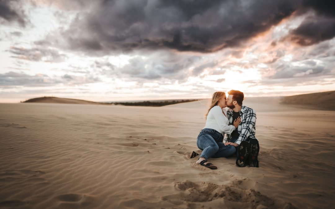 Ryan & Vaughn Silver Lake Sand Dunes Engagement Session