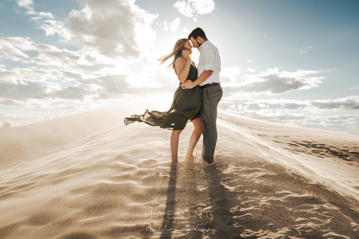 Silver Lake Sand Dunes Engagement Session