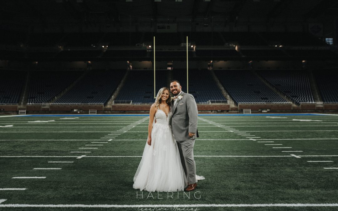 Liz and Jeff's Ford Field Wedding